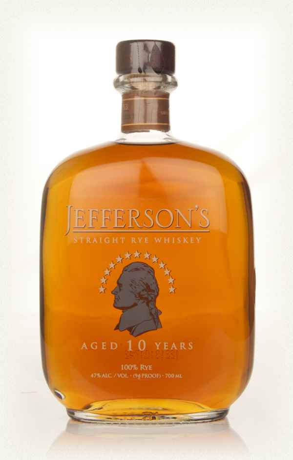 Jeffersons 10 Year Old Straight Rye Whiskey